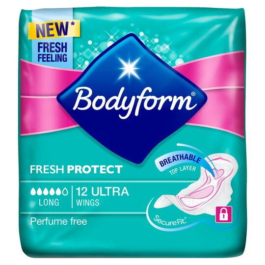 Bodyform Ultra Super Wing Sanitary Towels 12 Pack