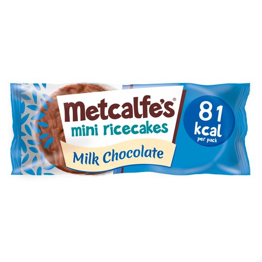 Metcalfe's Mini Rice Cakes Milk Chocolate 16G