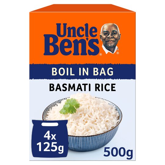 Uncle Bens Boil In Bag Basmati Rice 4X125g