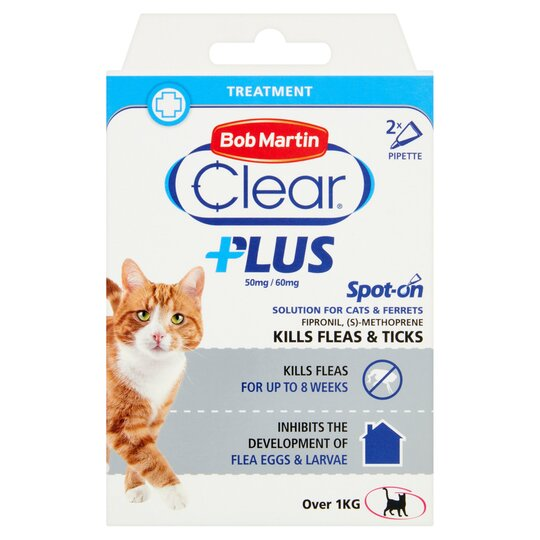 Bob Martin Clear Plus Cat Flea And Tick 2 Tube