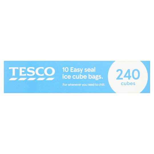 Tesco Easy Seal Ice Cube Bags Pack 10'S