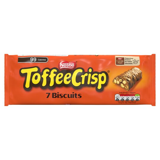 Toffee Crisp Chocolate Biscuits 7 Pack 130.9G