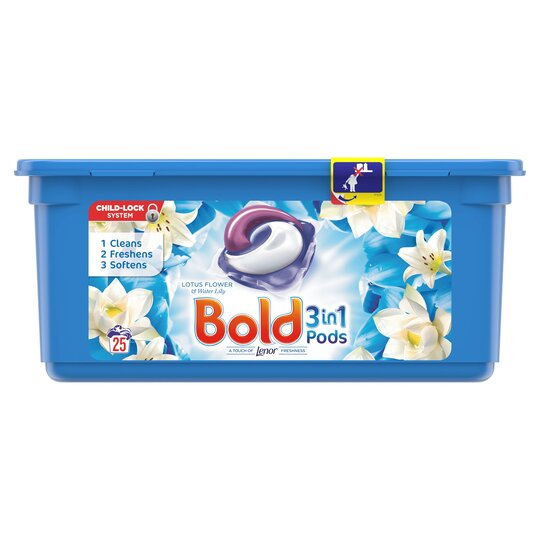 Bold 3in1 Pods Lotus Flower 25 Washes Tesco Groceries