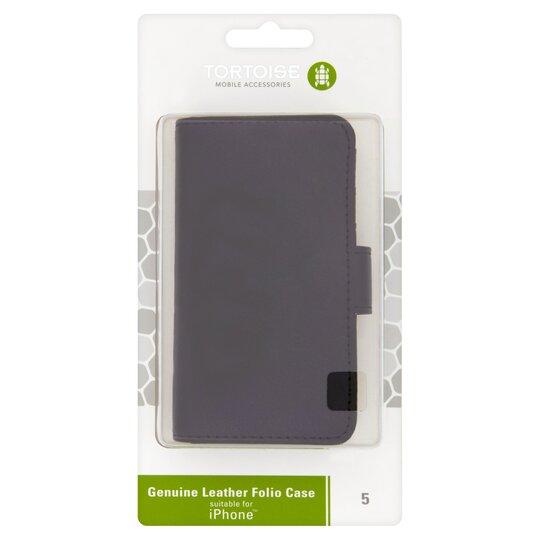 newest collection c4448 fff9f Tortoise Iphone 5/Se Leather Folio Black
