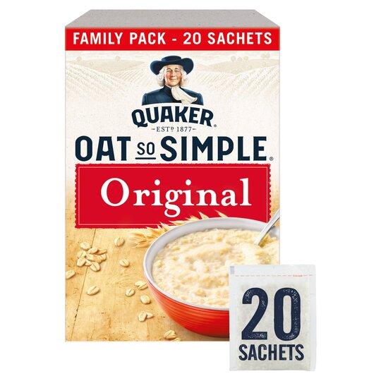 Quaker Oat So Simple Original Porridge Sachet 20X27g