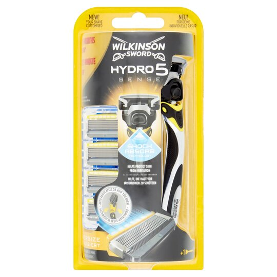 Wilkinson Sword Hydro 5 Sense Razor & 4 Blades