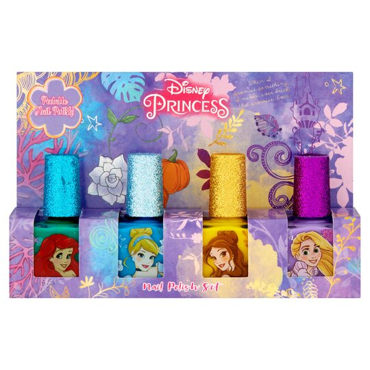 Disney Princess Nail Polish Set 4 Pack 28Ml - Tesco Groceries