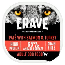 image 1 of Crave Dog Food High Protein Turkey & Salmon Pate 300G