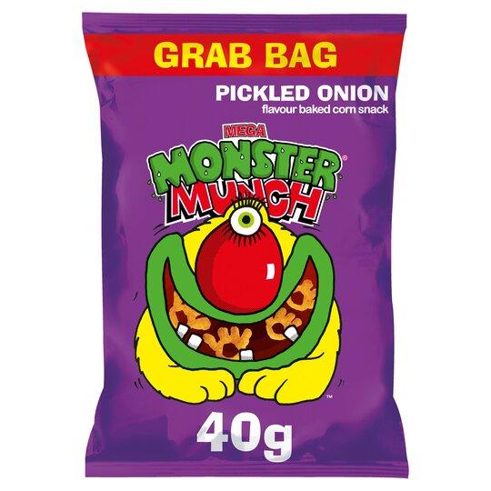 Walkers Monster Munch Mega Pickled Onion Snack40g