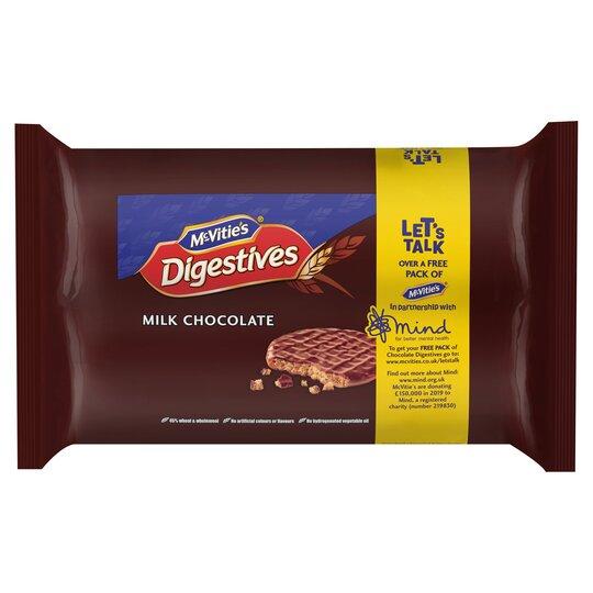 Mcvitie's Milk Chocolate Digestive Twin Pack 2X316g