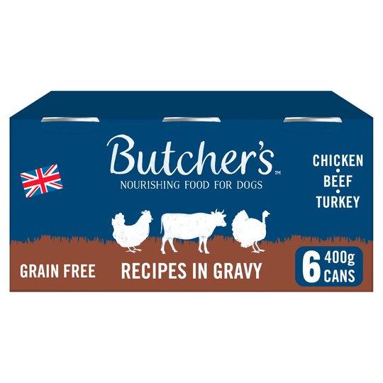 Butcher's Recipe In Gravy Dog Food Tins 6X400g