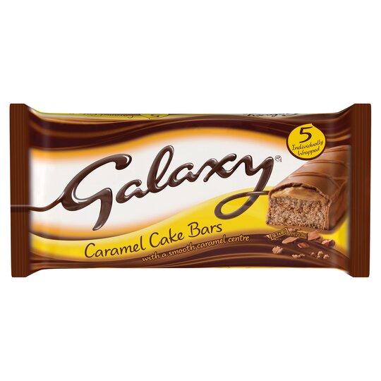 Mcvities Galaxy Caramel Cake Bars 5 Pack