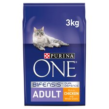 image 1 of Purina One Cat Adult Chicken & Whole Grains 3Kg