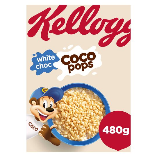 Kellogg's White Chocolate Coco Pops Cereal 480G