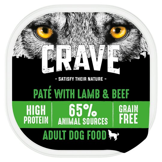 image 1 of Crave Dog Food High Protein Lamb & Beef 300G