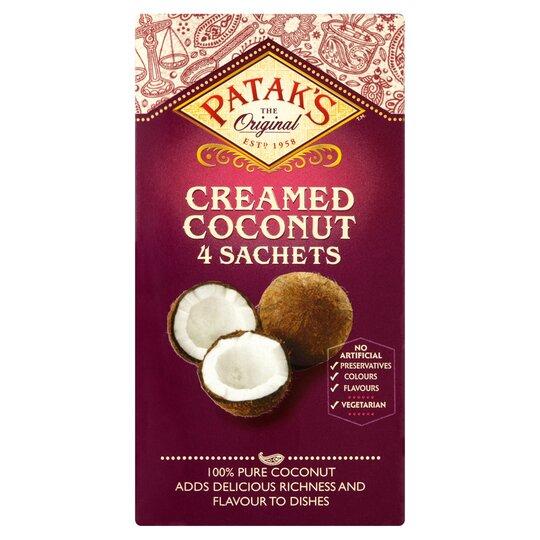 Pataks Creamed Coconut Sachets 200G