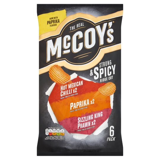 image 1 of Mccoy's Strong And Spicy Crisps 6X25g