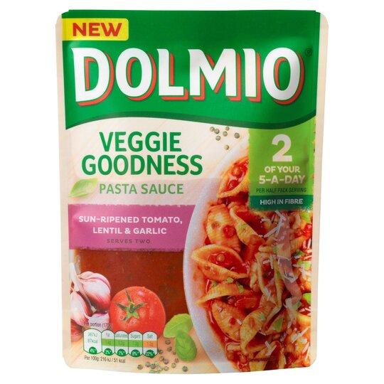 Dolmio Tomato Lentil & Garlic Pasta Sauce 340G