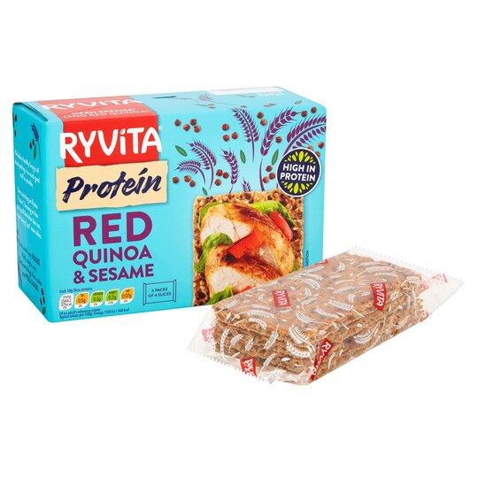 image 1 of Ryvita Redquinoa & Sesame Protein Crisp Bread 200G