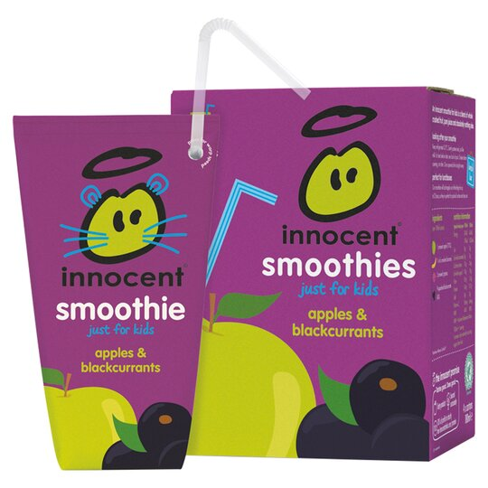 Innocent Kids Apple & Blackcurrant Smoothies4x180ml