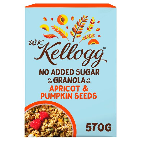Kellogg No Added Sugar Apricot Granola 570G