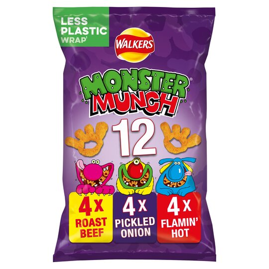 Walkers Monster Munch Variety Snacks 12X25g