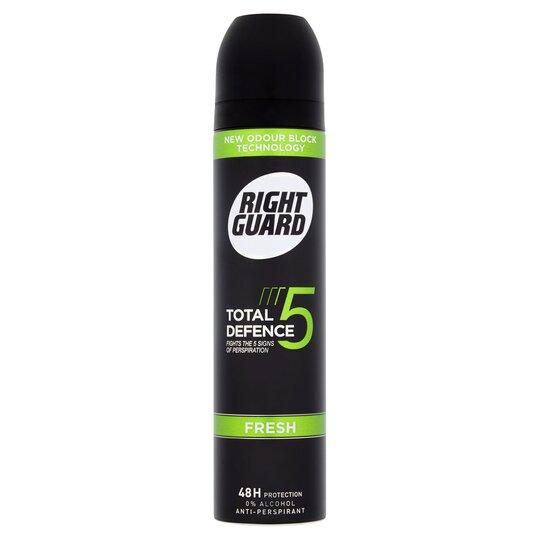 Right Guard Total Defence 5 Fresh Antiperspirant Deodorant 250Ml