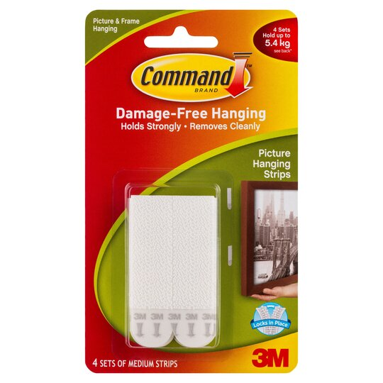 Command Medium Picture Hanging Strips 4 Sets