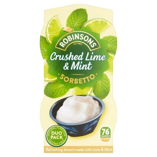 Robinsons Sorbet Lime & Mint 90Ml X 2