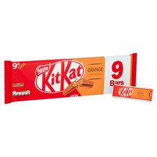 image 2 of Kit Kat 2 Finger Orange Chocolate Biscuit 9 Pack 186.3G