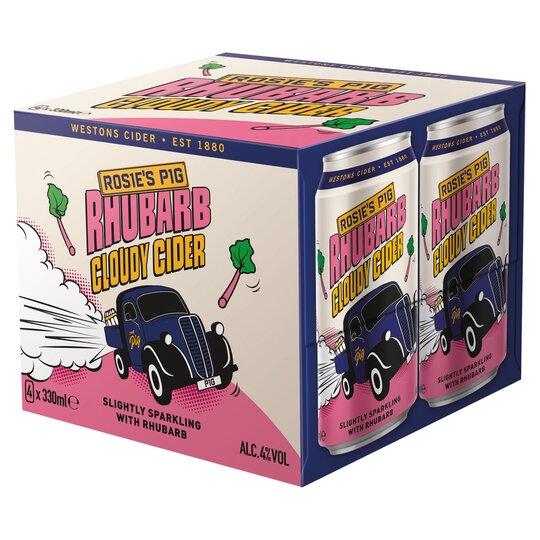 Rosie's Pig Rhubarb Cider 4X330ml Can