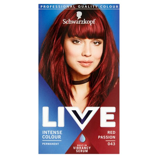 c000cd254dc18 Schwarzkopf Live Intensive Color 043 Red Passion Hair Dye - Tesco Groceries