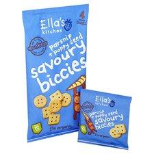 image 2 of Ella's Kitchen Parsnip & Poppyseed Savoury Biscuits 4X20g