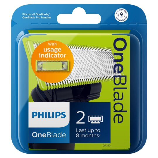 image 1 of Philips Oneblade Qp220 Replacement Blade Twin Pack
