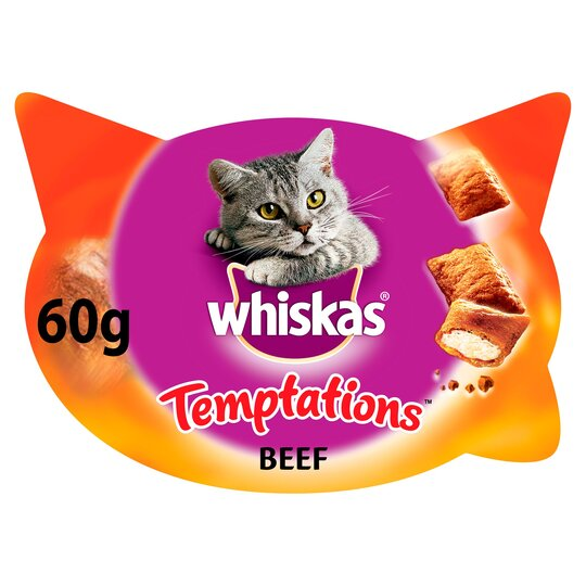 image 1 of Whiskas Temptations Beef 60G
