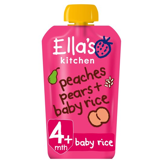 Ella's Kitchen Peaches Pears Plus Baby Rice Stage 1 X 120G