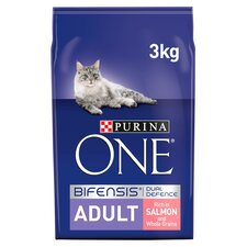 image 1 of Purina One Cat Adult Salmon & Whole Grain 3Kg
