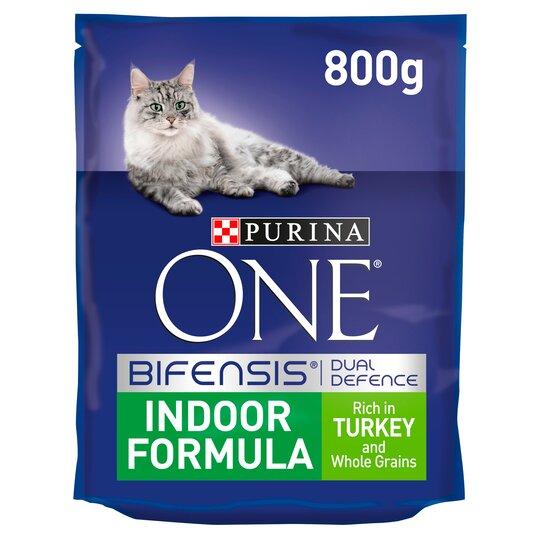 image 1 of Purina One Cat Indoor Formula Turkey/Rice 800G