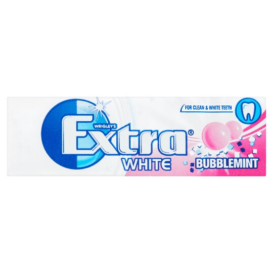 image 1 of Extra White Bubblemint Gum 10 Pieces