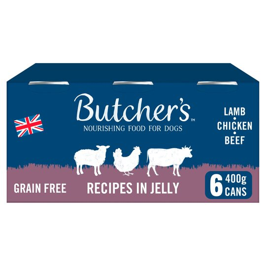 Butcher's Recipe In Jelly Dog Food Tins 6X400g