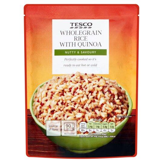 Tesco Wholegrain & Quinoa Microwave Rice 250G