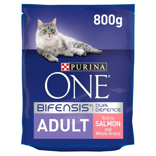 image 1 of Purina One Cat Adult Salmon & Whole Grain 800G