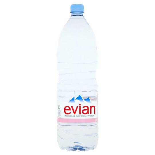 Evian Natural Mineral Water 2Ltr Bottle - Tesco Groceries