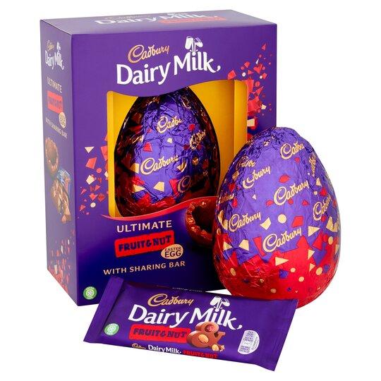 Cadbury Dairy Milk Fruit And Nut Egg 560G
