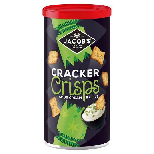 Jacobs Cracker Crisps Sour Cream & Chive 230G