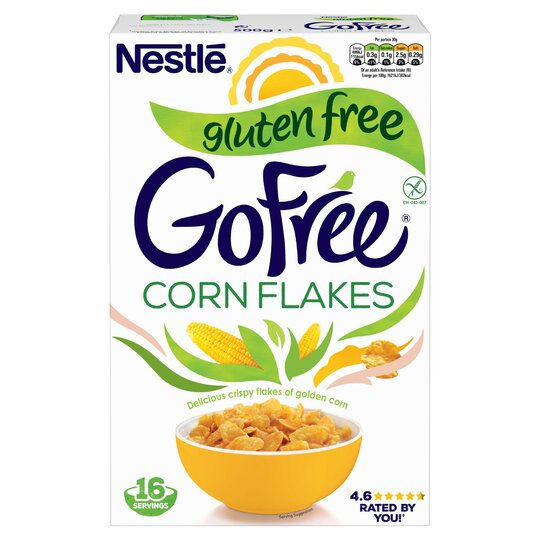 Gluten Free Cereal >> Nestle Gofree Cornflakes Gluten Free Cereal 500g Tesco Groceries