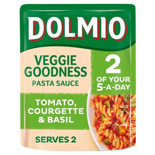 Dolmio Tomato Courgette & Basil Pasta Sauce 340G