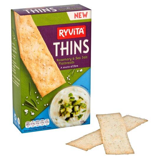 image 1 of Ryvita Thins Rosemary & Sea Salt Flatbreads 125G