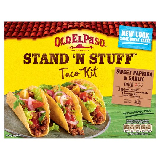Old El Paso Taco Stand 'N' Stuff Paprika & Garlic Kit 312G