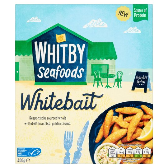 Whitby Seafoods Whitebait 400G
